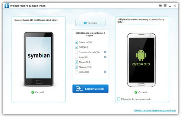 Comment transférer des contacts d'un Nokia à un Samsung Galaxy S3 dans Android nokia-android1